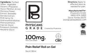 CBD Pain Roll-On Gel + 100mg