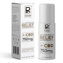Cool Mint Roll-On RELIEF + 750mg CBD