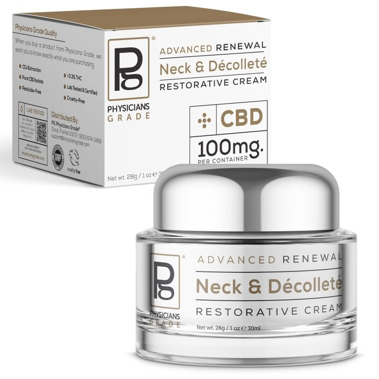 Neck & Décolleté Cream + 100mg CBD