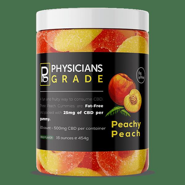 Peachy Peach Gummy Rings + 500mg CBD